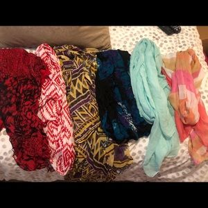 Multiple scarves